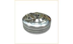 Круглая печать-кнопка металл с подушкой