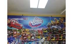 Баннер внутри магазина игрушек г. Иркутск (детский мир)