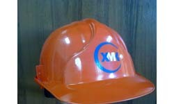 Логотип на каске для ХМК г. Черемхово