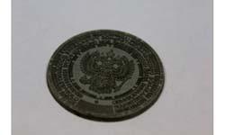 Лазерная гравировка гербовой печати на резине